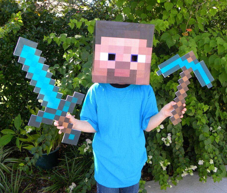 children loves minecraft